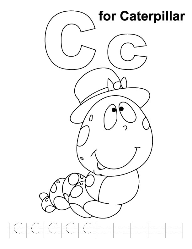 c is for coloring pages - photo #27