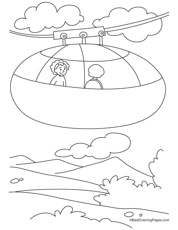 Cable Car Coloring Pages Download Free Cable Car