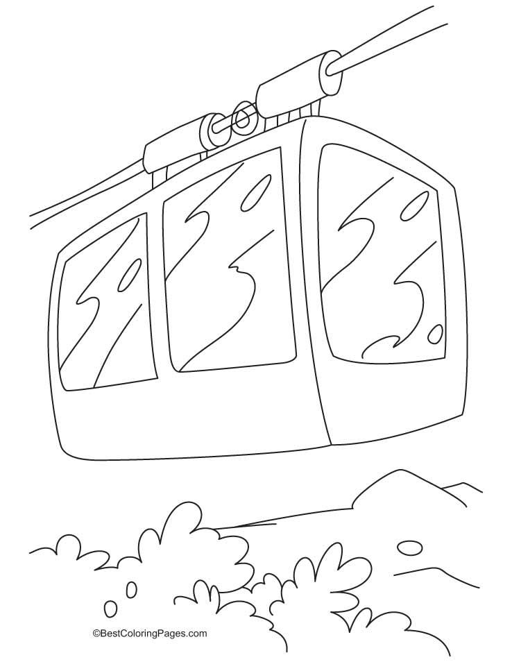 Cable Car Coloring Pages : A beautiful cable car coloring pages download free