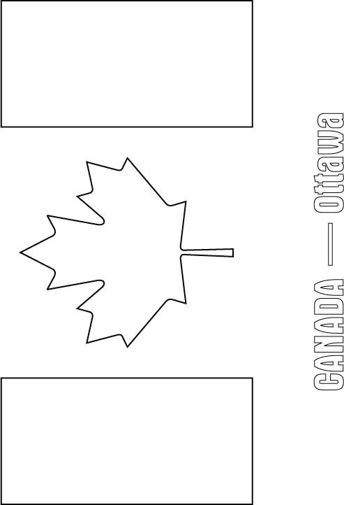 Canada flag coloring page