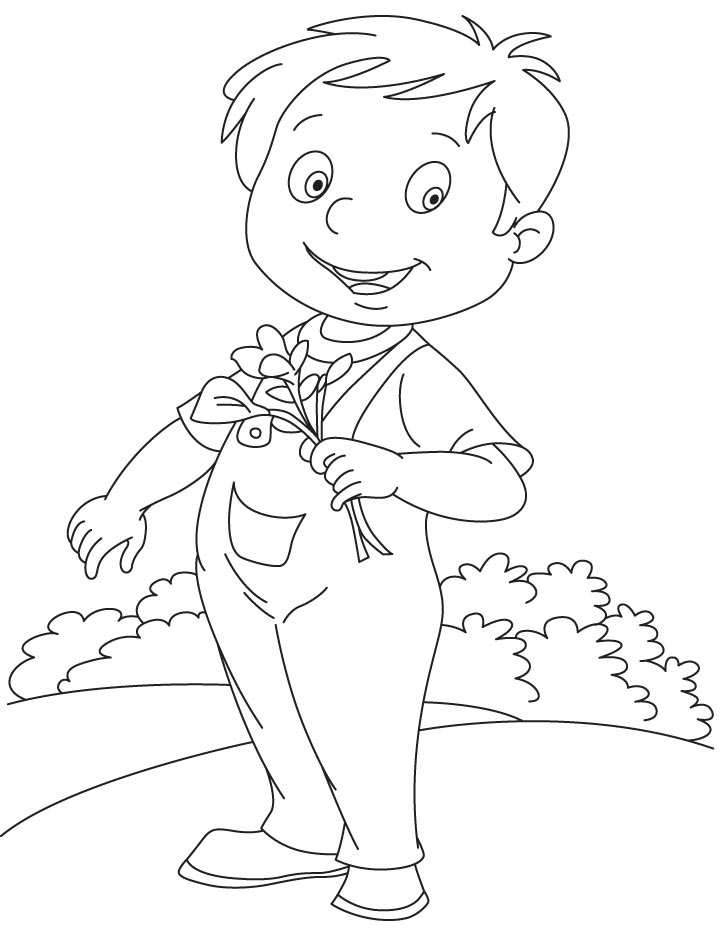 Canna for someone coloring page