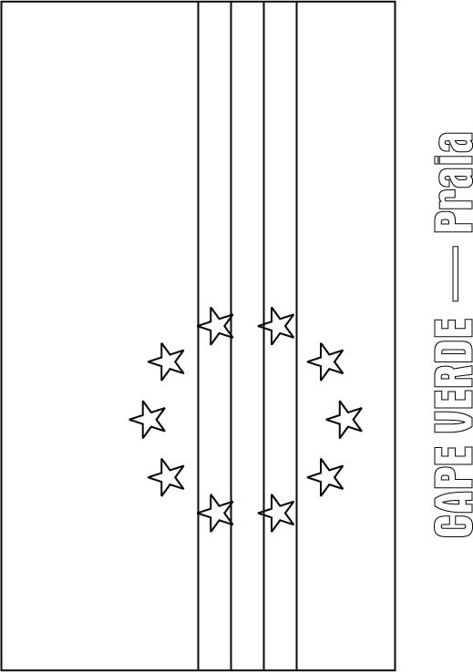 Cape Verde Flag Coloring Page
