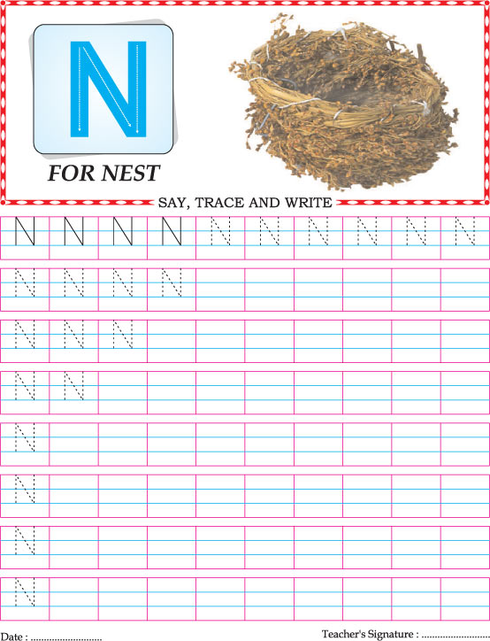 Capital Letter N Practice Worksheet Download Free. Capital Letter N Practice Worksheet. Worksheet. Capital Letter N Worksheet At Mspartners.co