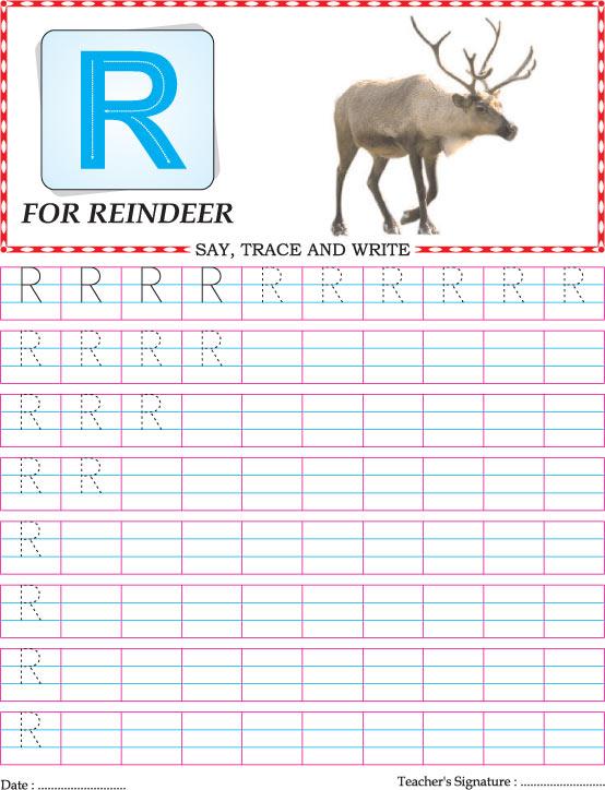 Capital letter R practice worksheet   Download Free Capital letter ...