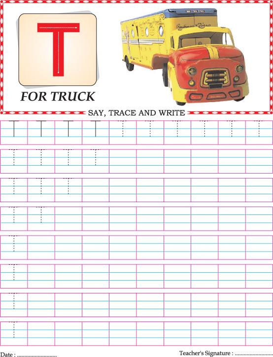 Capital Letter T Practice Worksheet