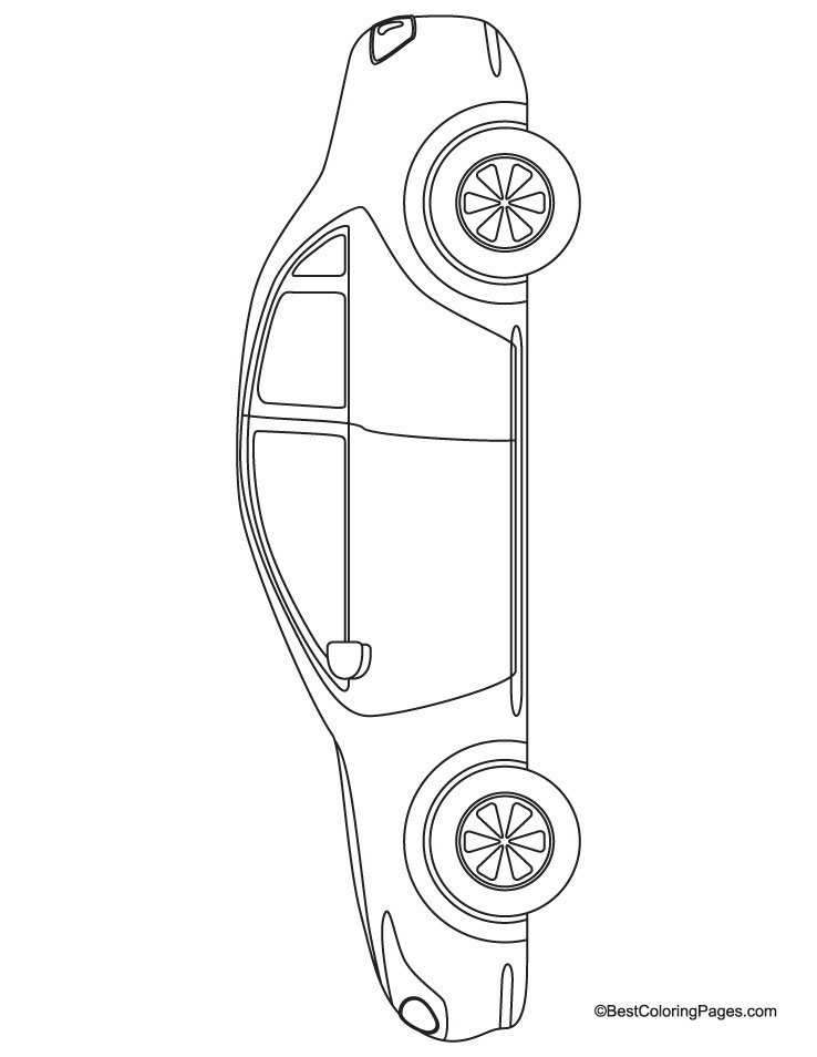 Long car coloring page