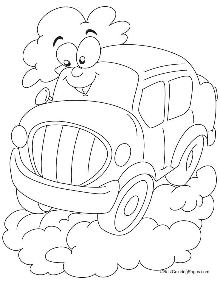free cars cartoon coloring pages | Cartoon car coloring pages | Download Free Cartoon car ...