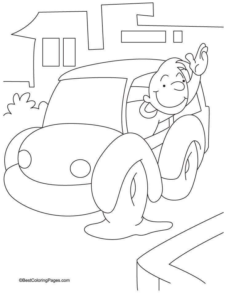 bye bye darling coloring page