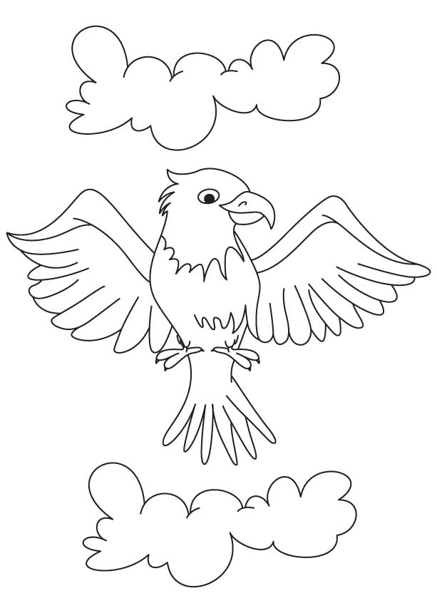 Cartoon Eagle Coloring Page