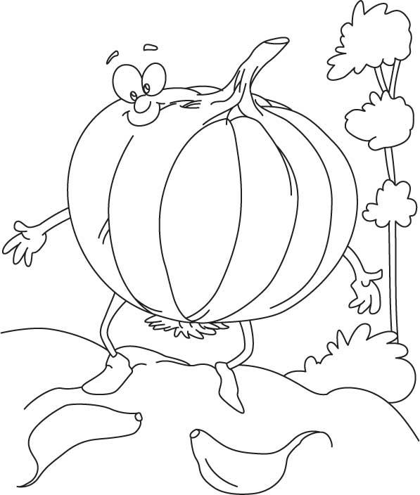 cartoon garlic coloring page
