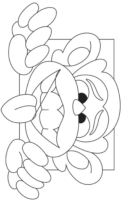 Cartoon monkey coloring page download free cartoon for Cartoon monkey coloring pages