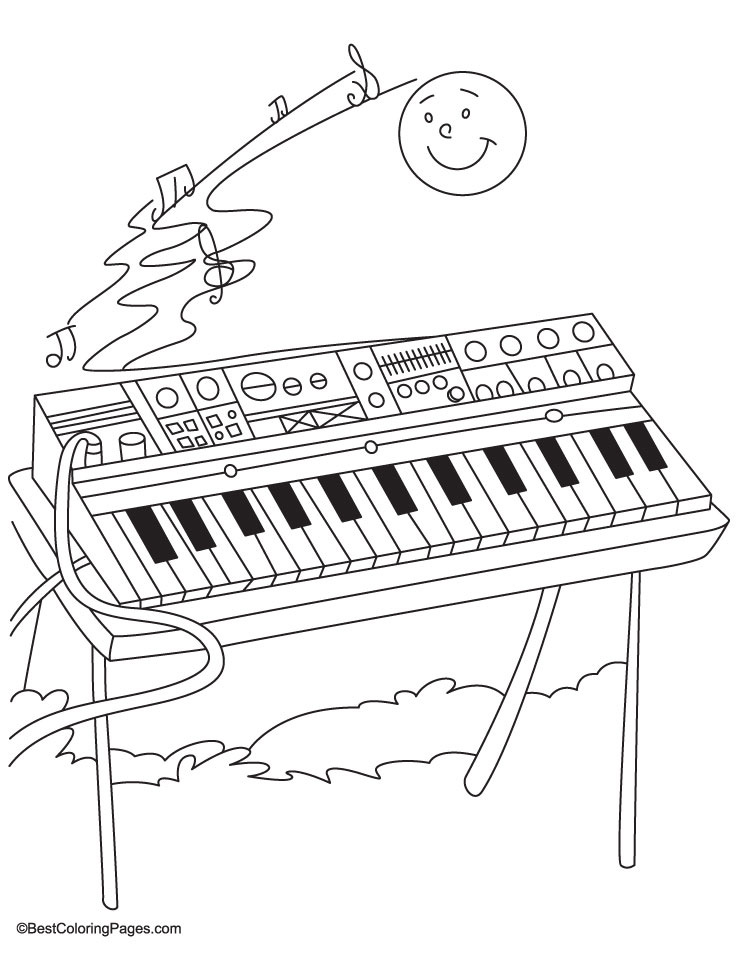 Synthesizer coloring pages Download Free Synthesizer