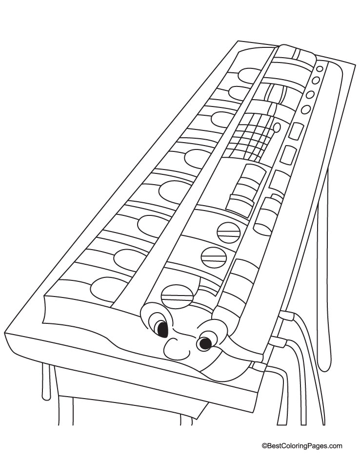casio coloring page