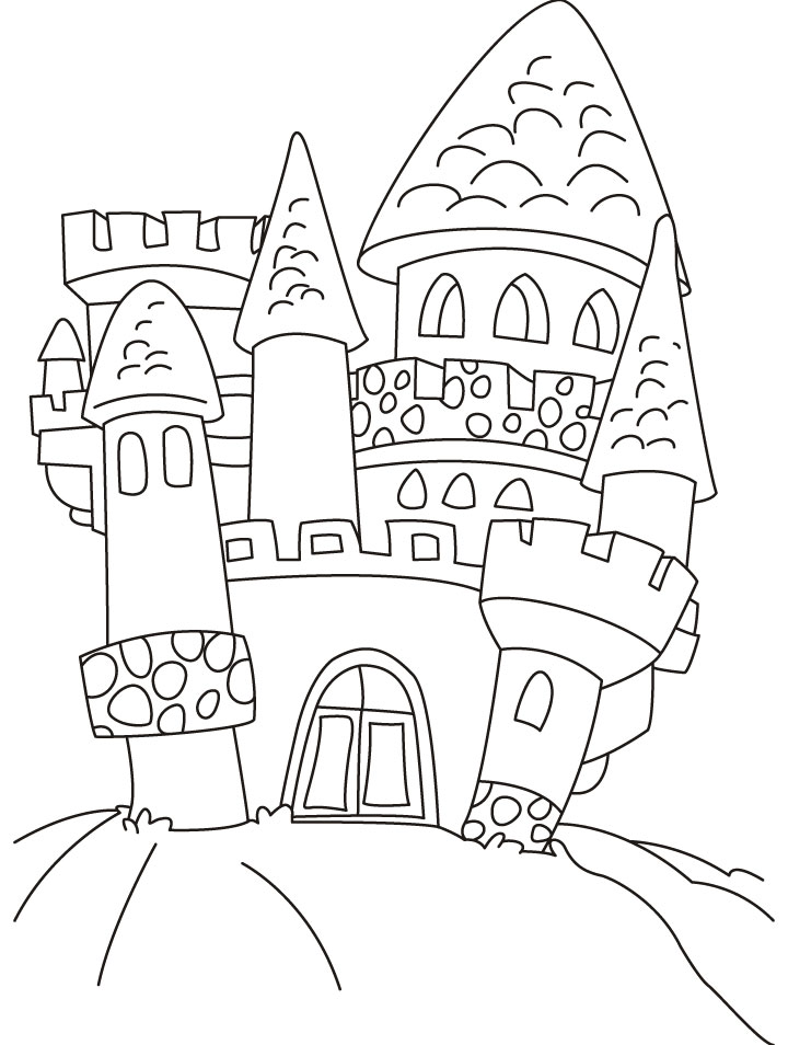 castle coloring pages for children - photo#26