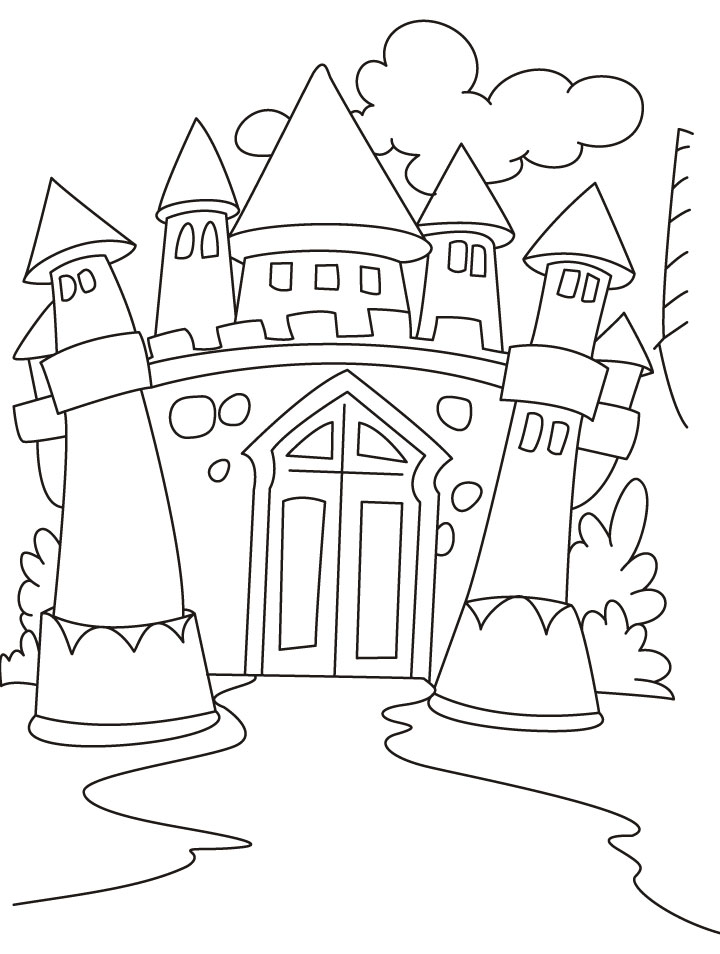 free coloring pages of castles - photo#8