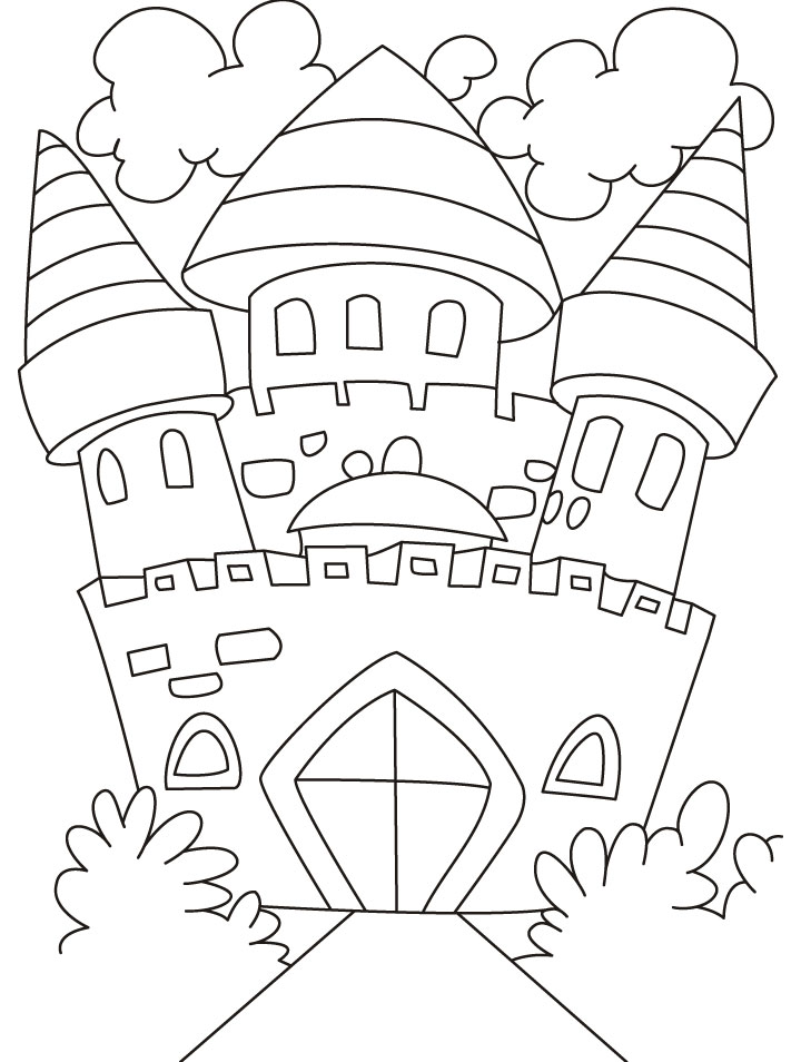 free coloring pages of castles - photo#22