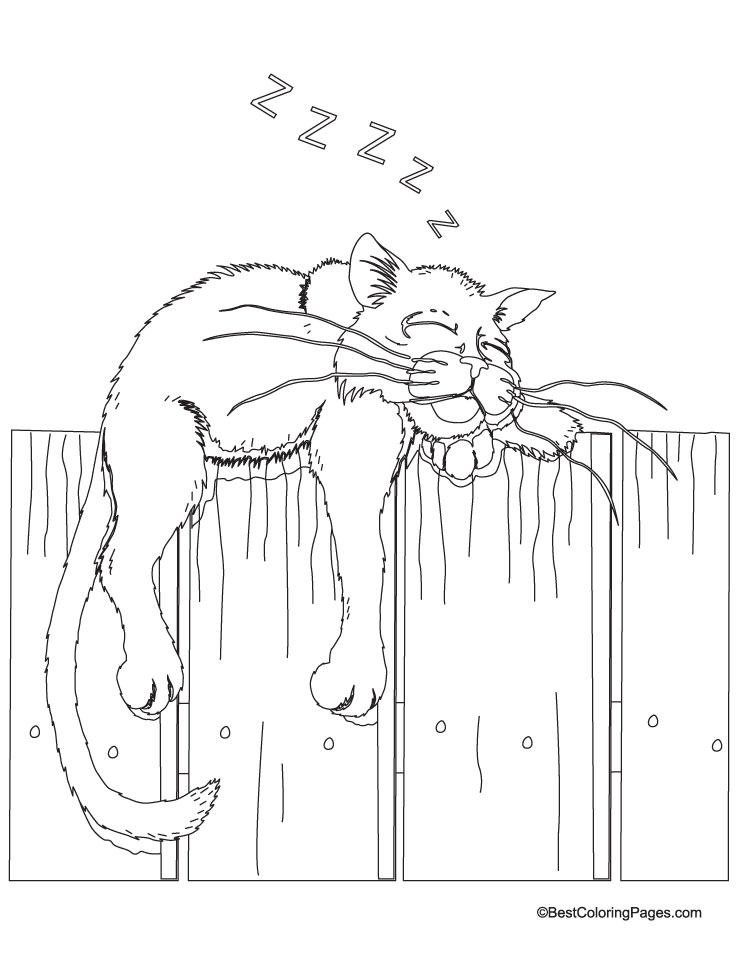 Free A Sleeping Puppy Coloring Pages