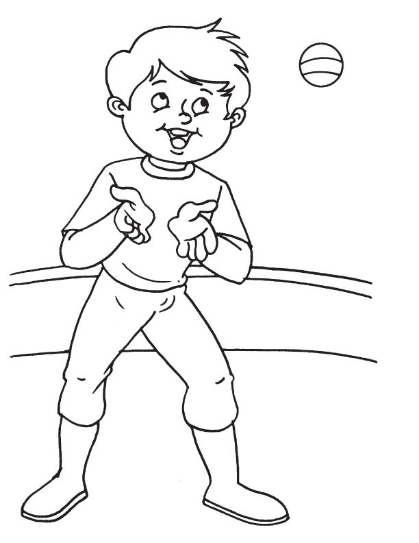 Catching position coloring page