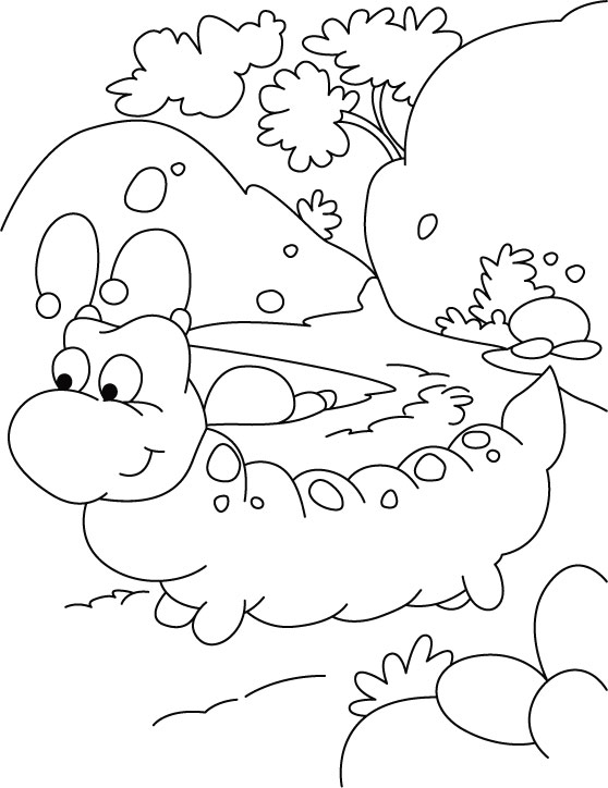 A walk regular, must for caterpillar coloring pages