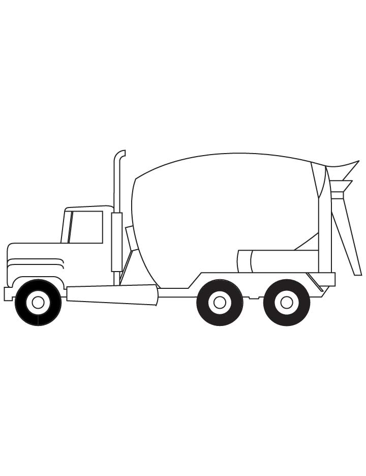 concrete mixer truck coloring pages - photo#34
