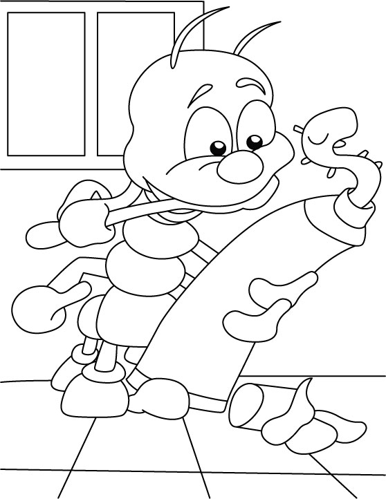 Centipede-no entry in my home coloring pages