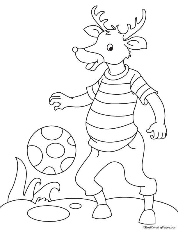Champion reindeer coloring page