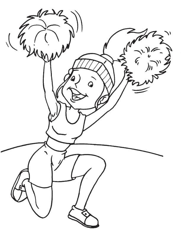 Cheerleader performing at function