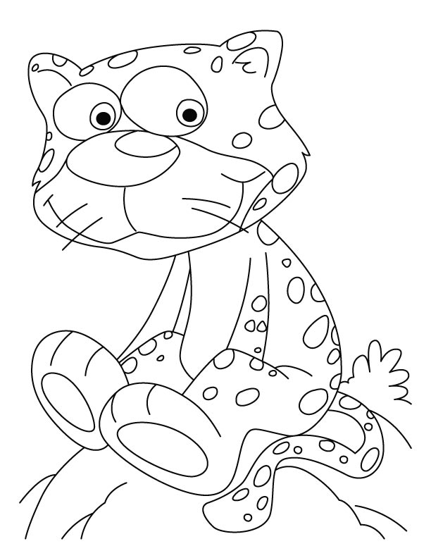 baby cheetah coloring pages - photo#17