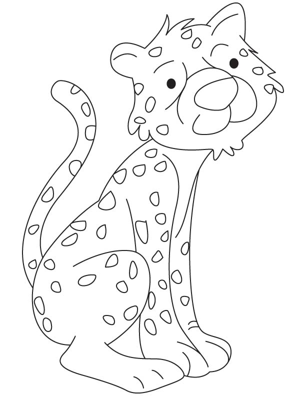 Cheetah cub coloring page