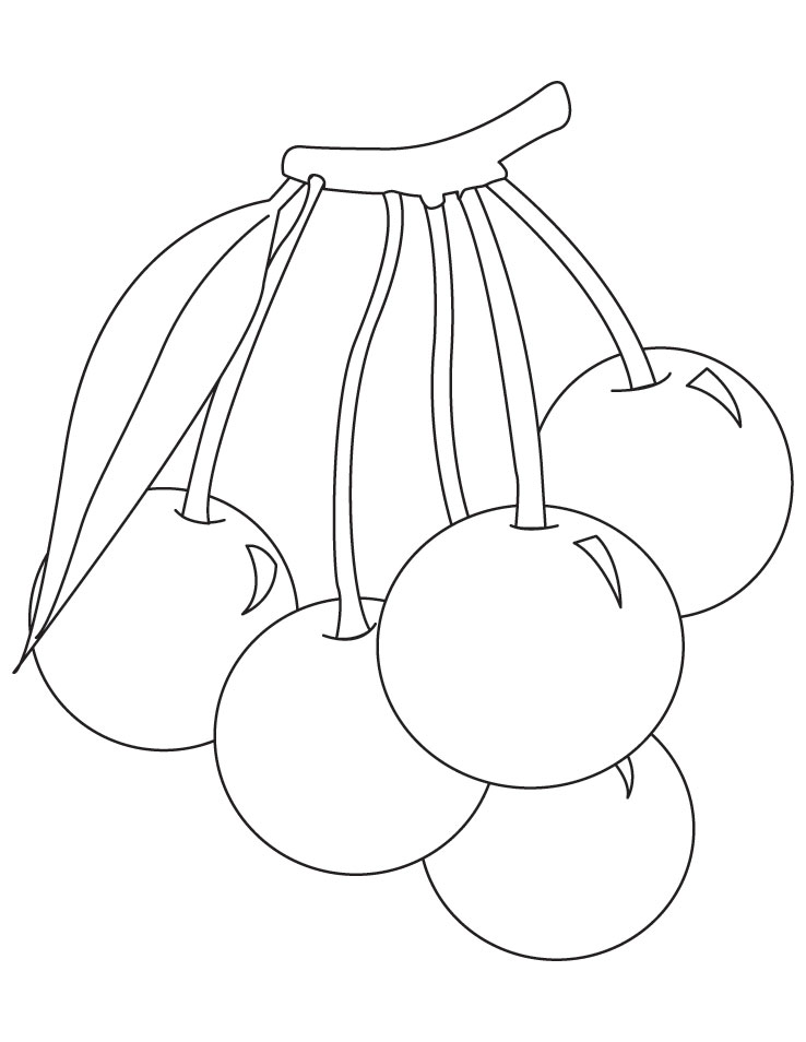 Bunch of cherries coloring pages