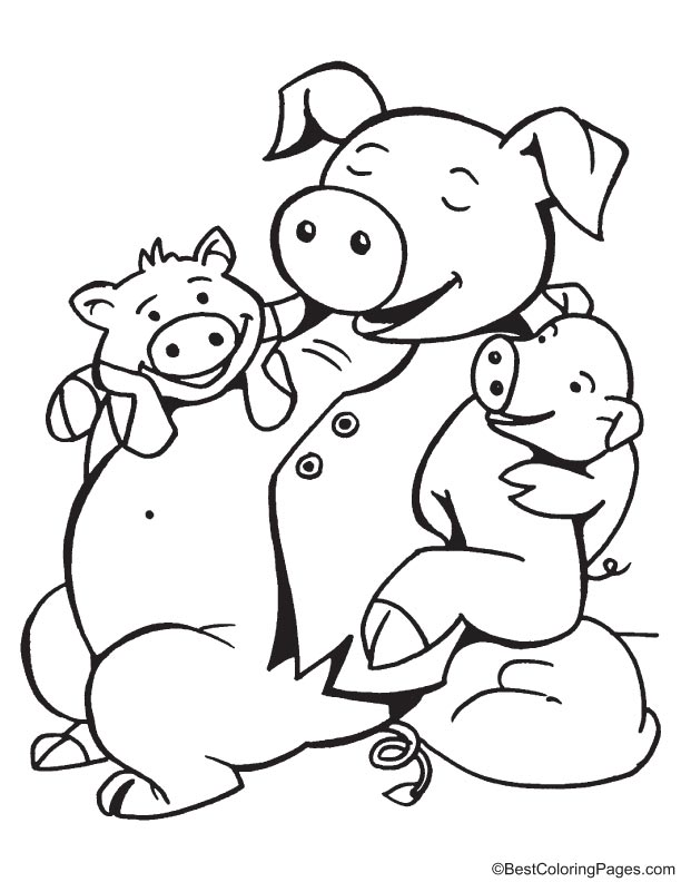 Children are dear to father coloring page