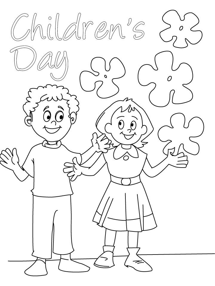 Coloring Pages For Children S Day : Day of the children coloring page download free