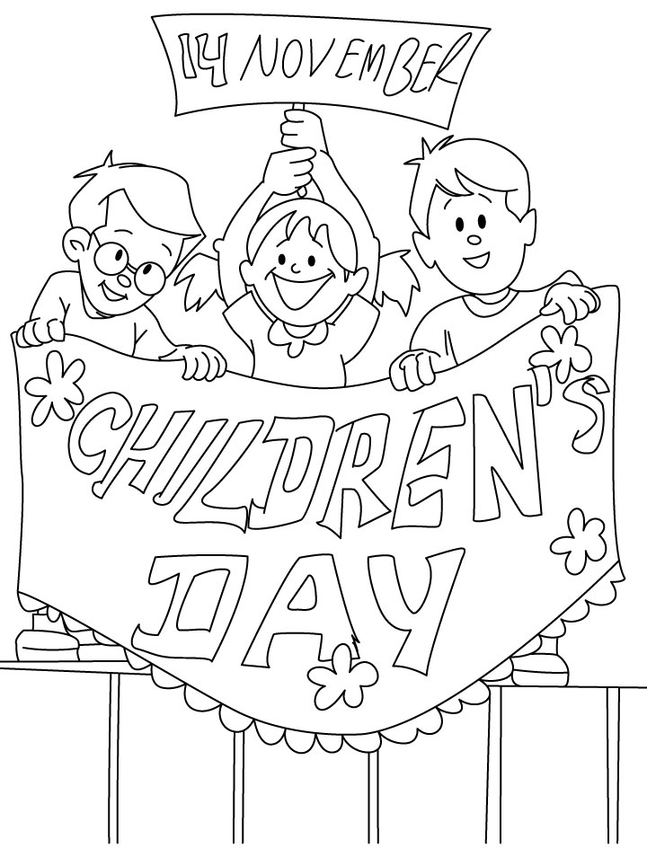 Childrens Day Coloring Page
