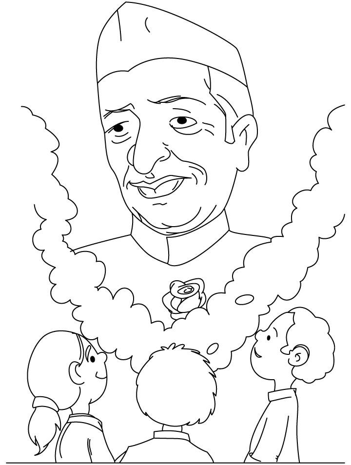 Chacha jawahar nehru coloring page