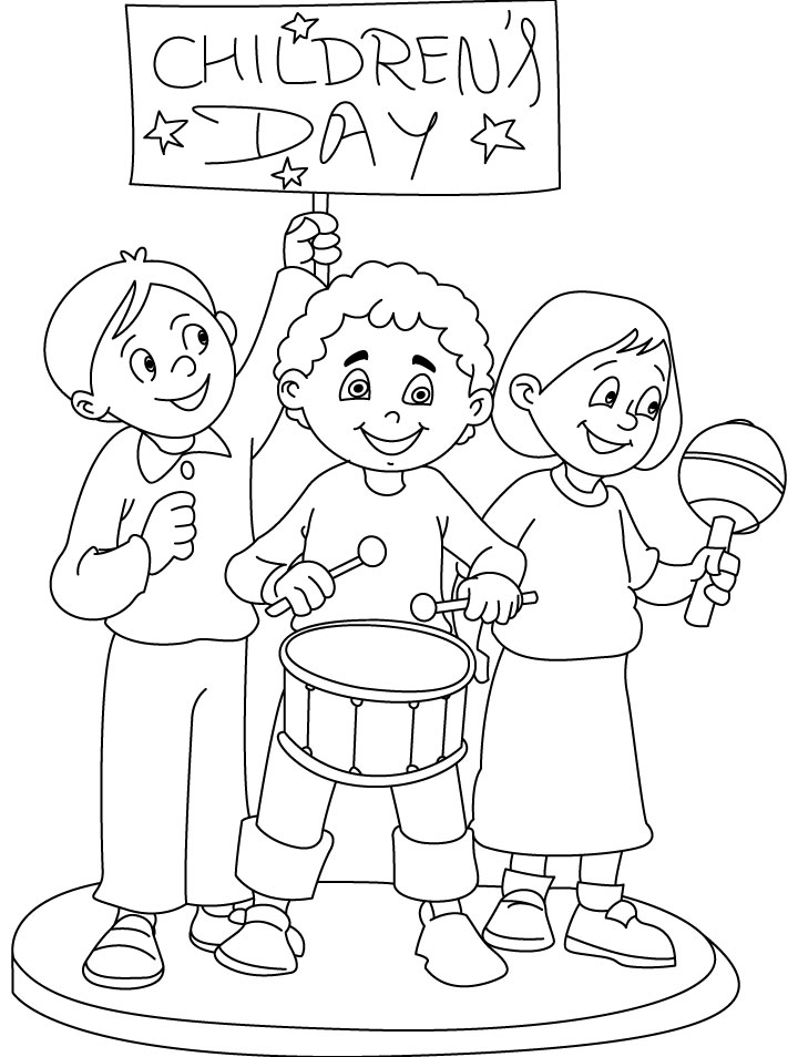 children days out coloring page | Download Free children ...