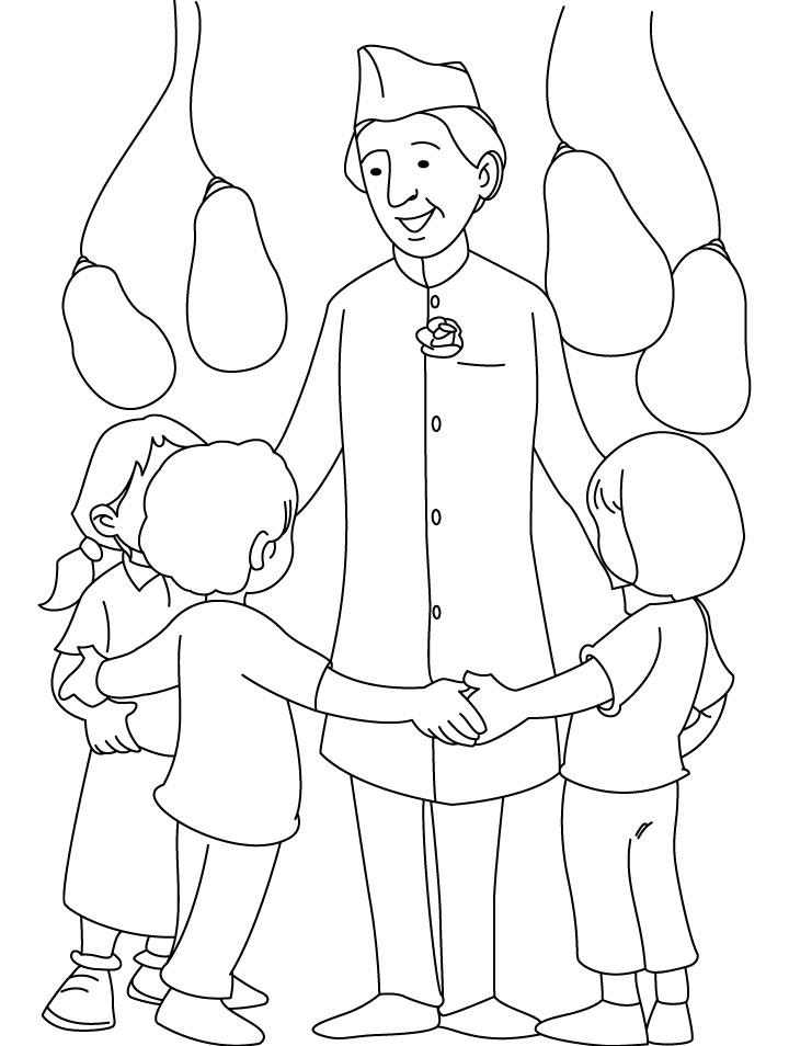 Jawahar Lal Nehru coloring page