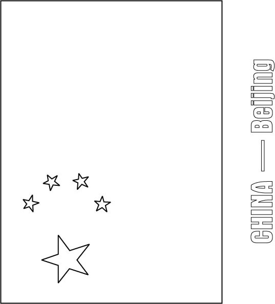 China flag coloring page | Download Free China flag coloring page ...