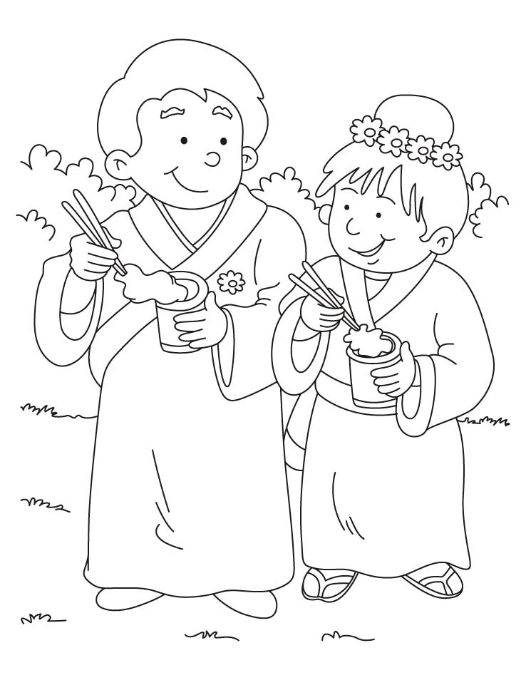 Chinese Dress Coloring Pages