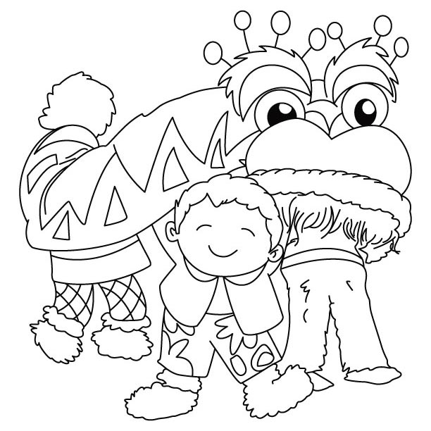 Free Colouring Pages Chinese New Year : New year celebrations coloring pages download free chinese