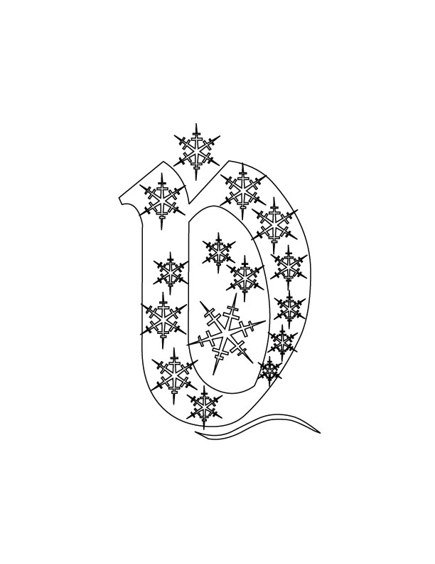 Christmas Alphabet D Coloring Pages