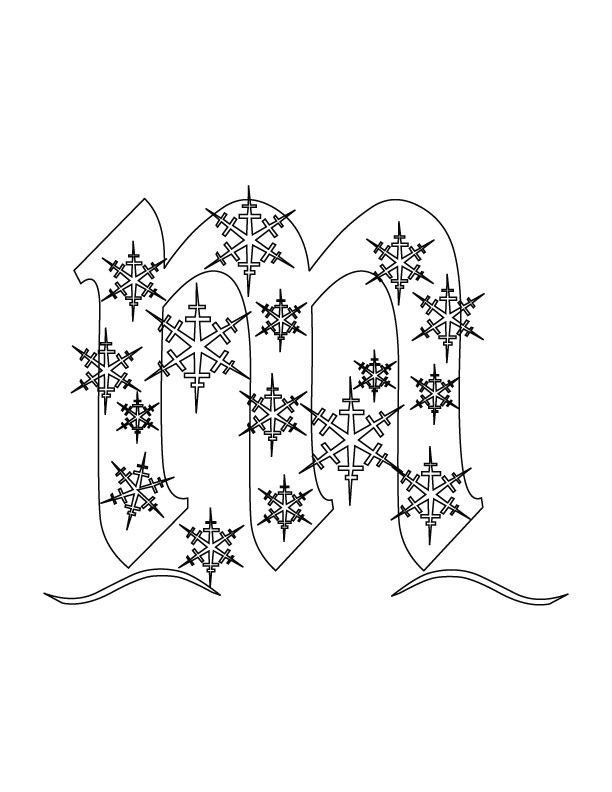 Christmas Alphabet M Coloring Pages | Download Free Christmas ...