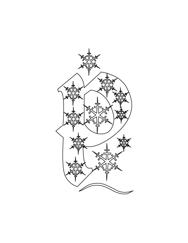 95 Christmas Alphabet Coloring Page