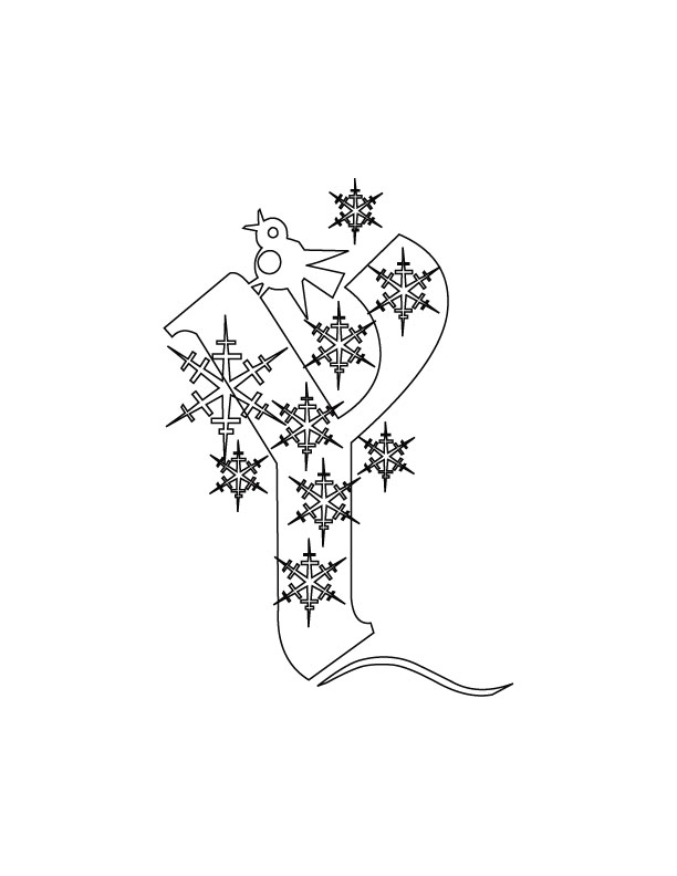 abc christmas coloring pages - photo#22