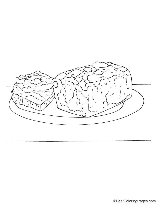 Christmas Fruit Cake Coloring Page