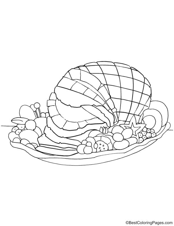ham coloring pages - photo#12