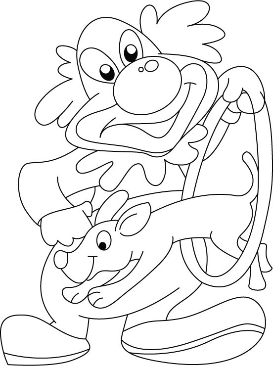circus scene coloring pages - photo #16