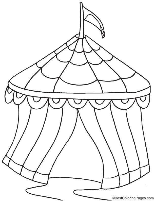 circus tent page coloring pages