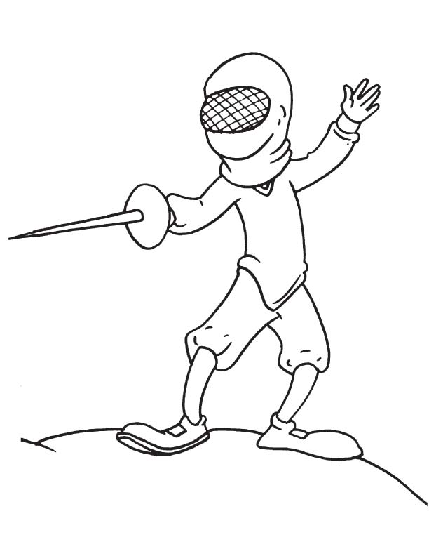 Classical fencing coloring page