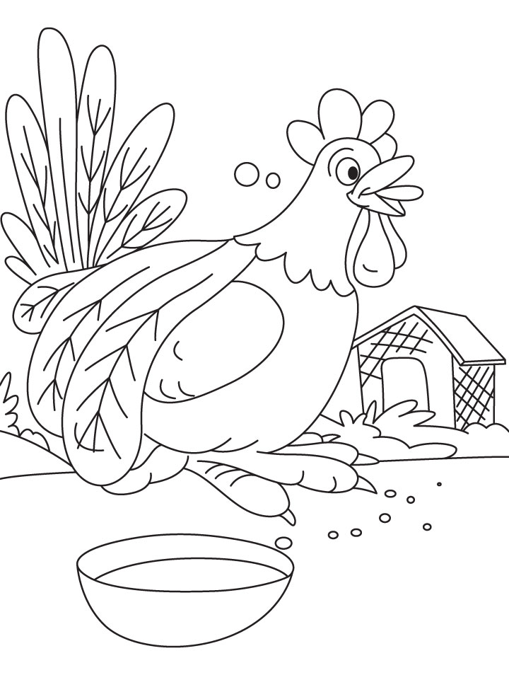 Cock-a-doodle-do coloring page