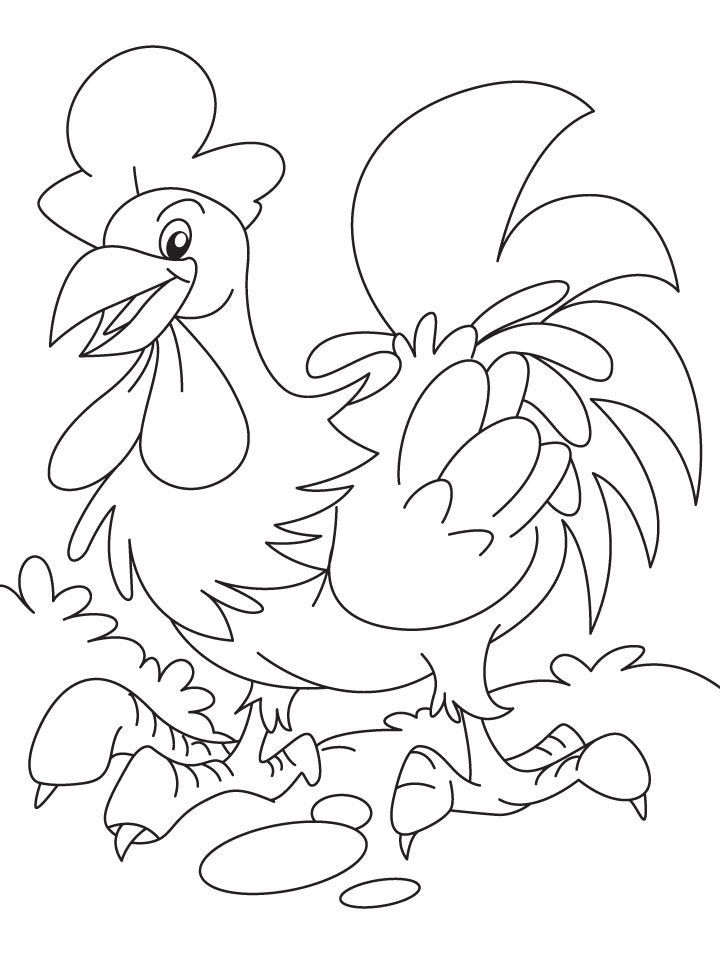 Easy Chicken coloring page